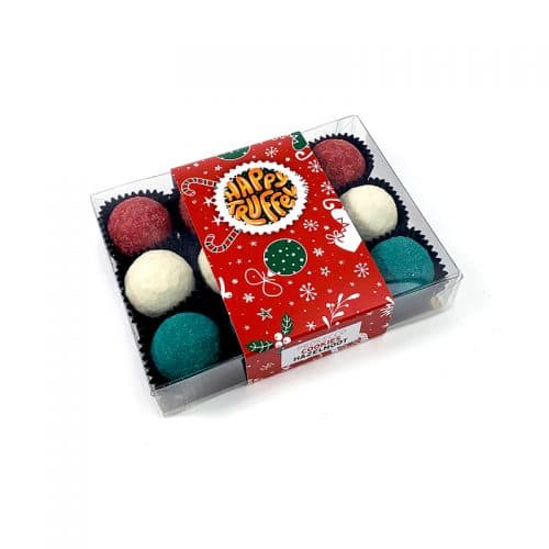 Chocoladetruffels Hazelnoot, Cookie en Prosecco - kerstbal editie
