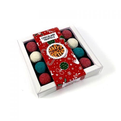Chocoladetruffels kerst cadeau - Kerstbal editie