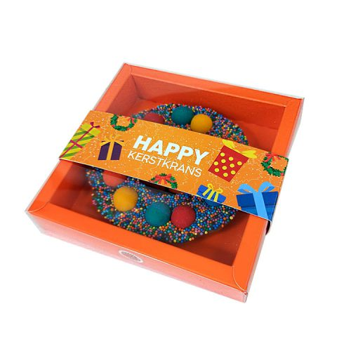 Chocolade cadeau - Kerstkrans met chocoladetruffels